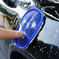 防羊毛洗车手套抛光打蜡海绵汽车用清洗美容工具清洁用品 擦车手套