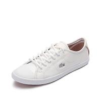 Lacoste法国鳄鱼女鞋鳄鱼纹时尚百搭休闲小白鞋 7-30SPW0027