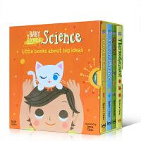 【全店300减110】英文原版 baby Loves science系列:宝宝爱科学4册盒装 低幼儿纸板科普图画书3-6岁儿童启蒙亲子读物