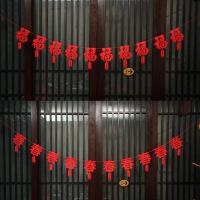 春节装饰用品拉花狗年新年过年挂件元旦商场布置年货挂饰