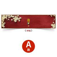 新中式装饰画中国风客厅禅意壁画卧室床头挂画沙发背景墙画祥瑞 45*180cm 木色外框 拼套