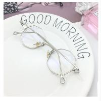 2018新款复古多边形八角眼镜女韩版潮平光镜男个性小框配近视眼镜架