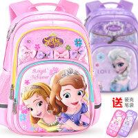 迪士尼小学生书包女童冰雪奇缘1-3-4年级儿童减负公主轻便小孩6