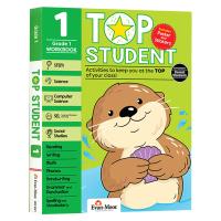 美国加州教辅 优等生系列练习册小学一年级 英文原版 Top Student Grade 1 英语数学STEM科学计算机社