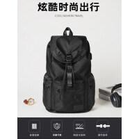 男士大容量双肩包休闲旅行包时尚潮流抽绳背包书包大学生简约防水