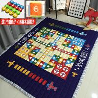 飞行棋地垫地毯儿童游戏垫宝宝爬行垫超大号子游戏棋子 飞行棋(送棋子和色子) 145*195cm