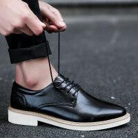 春季英伦风休闲皮鞋正装男鞋子商务尖头青年流行男士增高百搭潮鞋