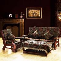 欧式沙发垫联邦椅垫三人实木沙发垫带靠背布艺坐垫