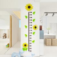 向日葵儿童宝宝身高墙贴3d立体亚克力测量身高卡通卡通墙贴装饰1 小