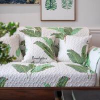 美式乡村田园沙发垫植物花卉春夏沙发坐垫全棉防滑布艺沙发巾盖套