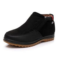 老北京布鞋男棉鞋牛筋底冬季纯羊毛中老年男棉靴子爸爸鞋加厚保暖真皮