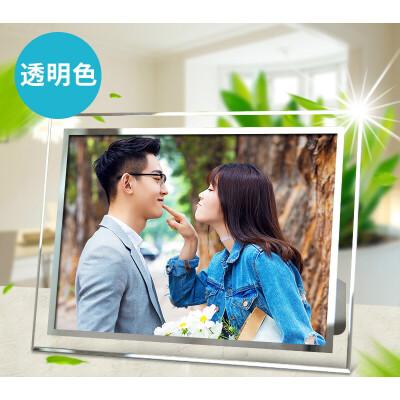水晶相框摆台创意玻璃像相架框架五5六6七7八8十10寸 洗照片+ A4(买1送1,上不封顶,送同尺寸)