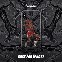 原创NBA篮球AJ4乔丹iPhoneXsMax手机壳Xr保护壳苹果8plus硅胶7软