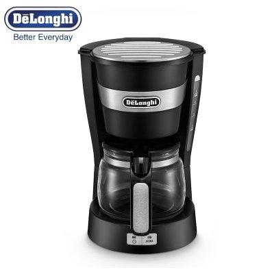 意大利德龙(Delonghi)滴滤式咖啡机ICM14011 ECO节能,可调节咖啡口味,玻璃咖啡壶