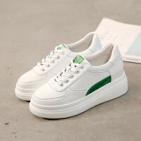香港同款内增高小白鞋女鞋百搭韩版厚底松糕单鞋板鞋