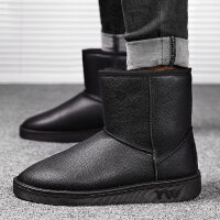 雪地靴男冬季棉鞋韩版潮加绒保暖面包鞋男款短靴子马丁靴
