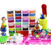 超轻粘土太空泥手工雪花泥黏土套装儿童玩具24色36色橡皮泥彩泥
