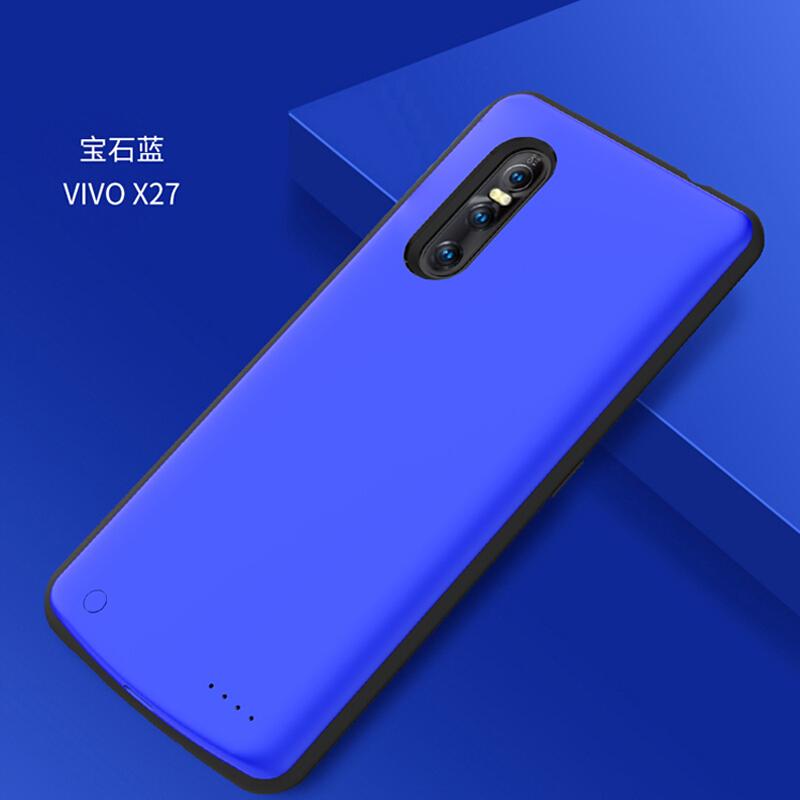 优品vivo x27背夹充电宝 vivo手机专用背夹电池x27背夹式充电壳一体的 x27 蓝色 专用版,电芯