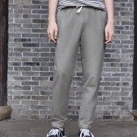 【1件2.5折到手价:69.8】chin祺男裤梭织夏季新款修身灰色收口速干休闲小脚裤长裤子男薄