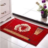 卧室门厅厨房吸水脚垫玄关进门入户门垫浴室垫地毯 驼色彩条 50*80厘米厚款