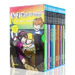 英文原版 A to Z Mysteries 神秘案件全套26册绘本 神秘事件 初级章节书 初中小学生英语课外读物 儿童