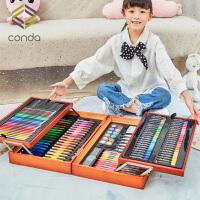 水彩笔套装儿童小学生36色绘画套装礼盒初学者幼儿园手绘颜色笔彩色笔24色安全无毒画画笔美术用品生日礼物