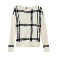 【1件2折到手价:47.8】秒美特斯邦威毛针织衫女士冬装新款格纹毛衣