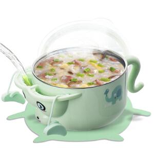 小豆苗(LITTLE BEAN) 【新款】儿童餐具套装 宝宝辅食碗保温碗婴儿吸盘碗勺注水不锈钢