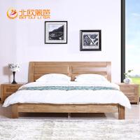 爵豪利来国际ag手机版纯榆木全木床双人床1.8米大床中式简约现代婚床元素厚重