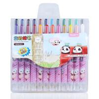 广博儿童油画棒旋转蜡笔24色水溶丝滑炫棒彩炫绘棒水粉笔
