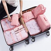 行李女韩版24小清新20密码箱子28寸旅行箱衣服整理包行李箱收纳袋 七件套装整理包(适用20-28寸行李箱内)
