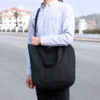 韩国新款简约学生帆布包男女韩版休闲单肩斜挎包手提差包 黑色 拍下五天后发货