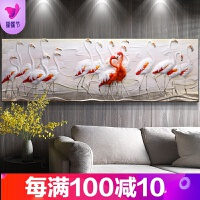 火烈鸟客厅装饰画沙发背景墙画3D立体浮雕画现代北欧挂画壁画卧室 燃烧的岁月 金
