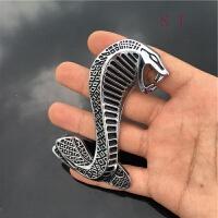 3D立体金属中网车标贴 汽车福特野马改装眼镜蛇车贴 蛇蝰蛇中网标