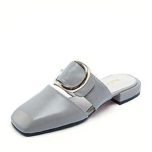 Belle/百丽春季专柜同款牛皮后空穆勒鞋女凉鞋凉拖R2F1DAH7