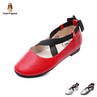 暇步士Hush Puppies童鞋18新款儿童皮鞋女童时装鞋时尚舞蹈鞋 (7-11岁可选) DP9315