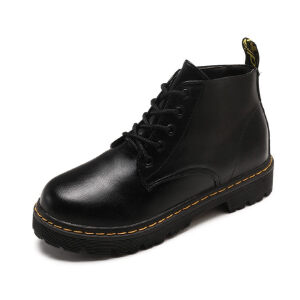 WARORWAR 2019新品YM10-F6-1冬季英伦磨砂反绒平底鞋舒适女鞋潮流时尚潮鞋百搭潮牌短靴