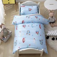 宝宝入园床品幼儿园三件套午睡被子儿童床上用品六件套 玫红色 飞机轮船7件套 其它