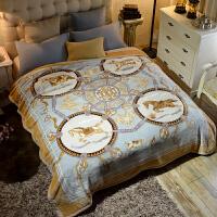 毯子冬季加厚法兰绒毛毯男单人保暖女冬用被子双层 200cmx230cm 约7斤