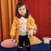 【全场2件2.5折,到手价:174.8】美特斯邦威旗下moomoo童装儿童羽绒服冬装新款鸭绒卡通宝宝小童外套