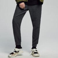 【2件3折到手价:67.5】美特斯邦威休闲裤男春秋季新款男潮流韩版毛呢梭织修身小脚裤