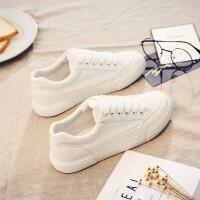 基础百搭小白鞋2018春季新款布鞋加绒保暖帆布鞋女韩版冬季棉鞋子