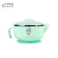 吸盘碗儿童餐具套装宝宝注水保温碗婴儿碗勺套装辅食碗防摔不锈钢A