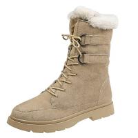 WARORWAR 2019新品YN9-3619冬季欧美低跟女鞋潮流时尚潮鞋百搭潮牌短靴女