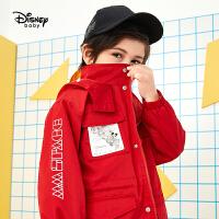 【3折�A估�r:109.7元】迪士尼男童�L衣春秋新款童米奇中�L款���膺B帽休�e�和�外套