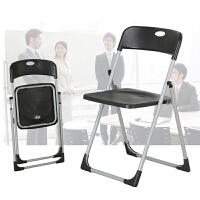 家用可折叠椅办公椅/椅子 电脑椅座椅培训椅加固简易凳子靠背椅