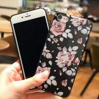 iPhone7/7plus/x复古手绘玫瑰花手机壳硅胶软套iPhone6/6s/6plus/6s plus复古手绘玫瑰