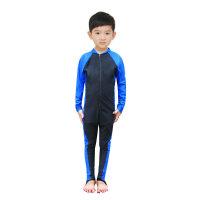 儿童连体泳衣潜水服男童女童长袖水母衣潜水衣浮潜服