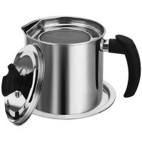 不锈钢油壶酱油瓶装油罐过滤调料瓶家用厨房用品 1800毫升