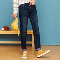 【1件3折到手价:58.5】美特斯邦威旗下4M牛仔裤男士秋冬弹力修身显瘦裤子